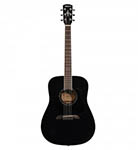 Alvarez Acoustic Guitar Dreadnought Black Solid Top