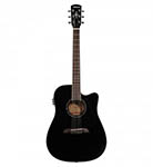 Alvarez Acoustic Guitar Dreadnought Black Cut Acoustic Electric Solid Top
