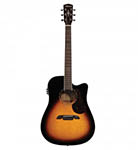 Alvarez Acoustic Guitar Dreadnought Sunburst Cut Acoustic Electric Solid Top