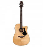 Alvarez Acoustic Guitar Dreadnought Natural Cut Acoustic Electric Solid Top
