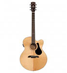 Alvarez Acoustic Guitar Jumbo Natural Cutaway Acoustic Electric Solid Top