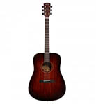 Alvarez acoustic Guitar dreadnought Shadowburst All Solid Abalone