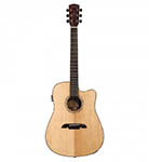 Alvarez Acoustic Guitar Dreadnought Natural Cutaway Acoustic Electric All Solid Abalone