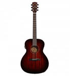 Alvarez Acoustic Guitar Grand Auditorium Shadowburst Acoustic Electric All Solid Abalone