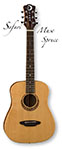 Luna Muse Safari Travel Guitar Spruce