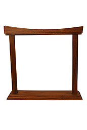 Dobani Gong Stand, Rosewood, Curved, 14-Inch