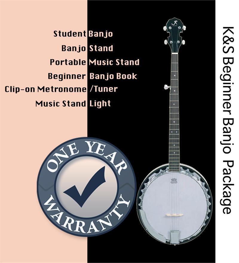 K&S Music Beginner Banjo Package