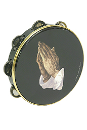 Remo Tambourine, 8-Inch, Praying Hand