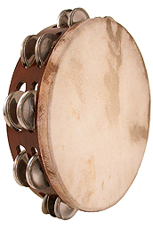 Mid-East Tambourine, 10-Inch Rosewood